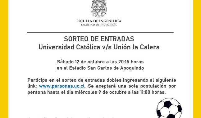 Sorteo Entradas Universidad Católica v/s Unión la Calera